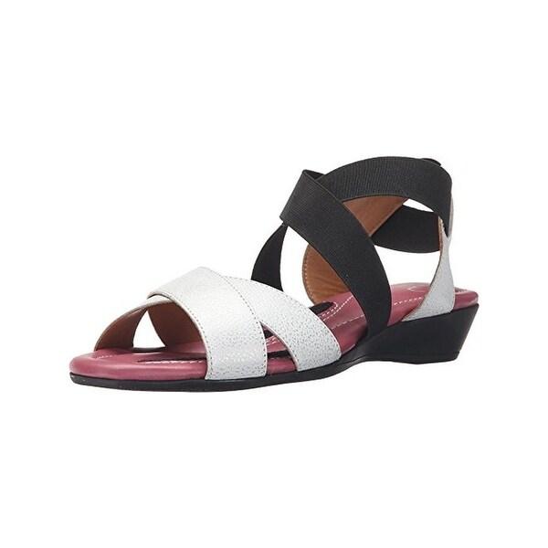 J. Renee Womens Careen Wedge Sandals Leather