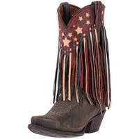 Dan Post Western Boots Womens Liberty Fringe Orthotic Brown