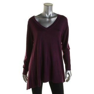 DKNY Womens Pullover Sweater Wool Blend Long Sleeves