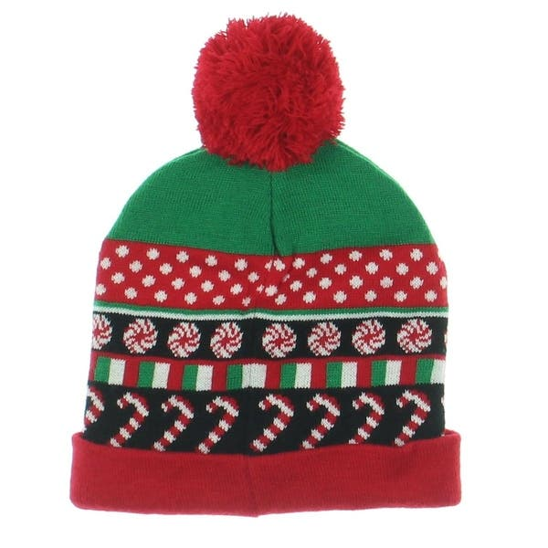 859a645c Planet Gold Winter Hat Holiday Candy Cane