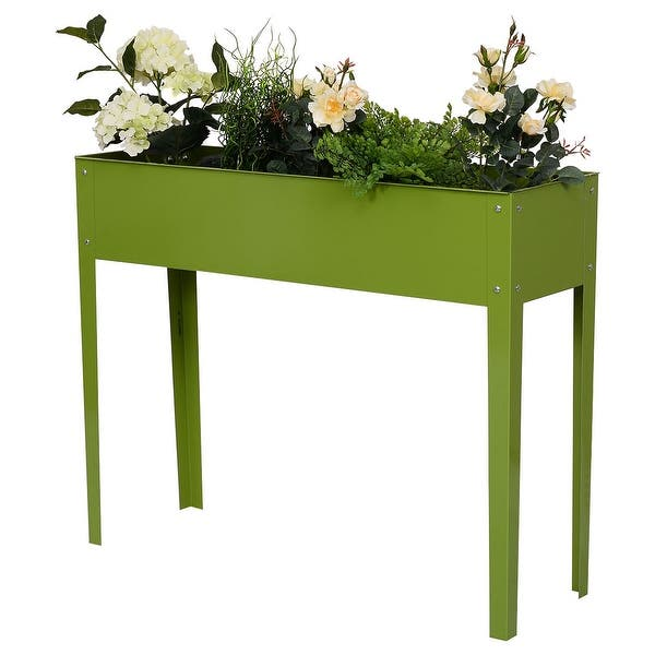 Shop Costway 40''x12'' Outdoor Elevated Garden Plant Stand ... on raised tree planter, raised box planter, raised rectangle planter, raised bamboo planter,