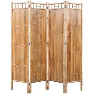 vidaXL 4-Panel Bamboo Room Divider