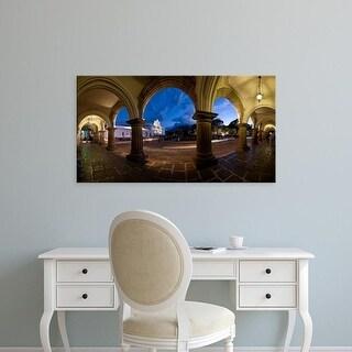 Easy Art Prints Panoramic Image 'Palace, Palacio De Los Capitanes Generale, Antigua Guatemala, Guatemala' Canvas Art