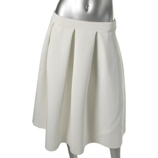 Aqua Womens Juniors Neoprene Pleated A-Line Skirt