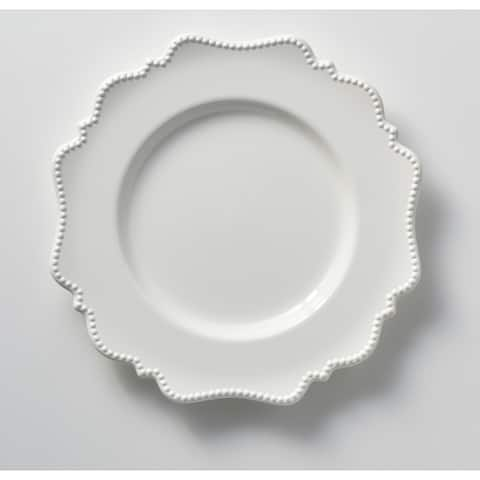 "Red Vanilla Pinpoint White Dinner Plate 11"" (Set of 6)"