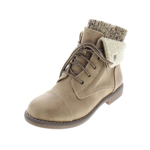 Cliffs by White Mountain Womens Duena Booties Knit Fold-Over