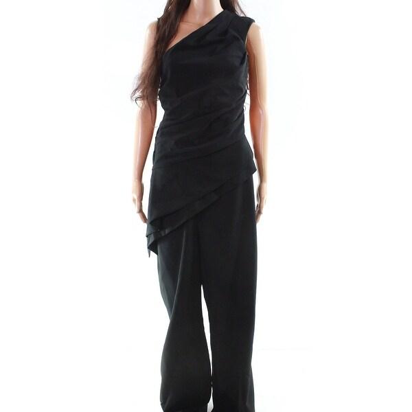 c3928aa038b Shop Lauren By Ralph Lauren Black Women s Size 16 One-Shouder Jumpsuit -  Free Shipping Today - Overstock.com - 27281516