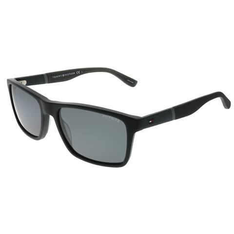 Tommy Hilfiger TH 1405/S KUN P9 56mm Unisex Black Frame Grey Lens Sunglasses