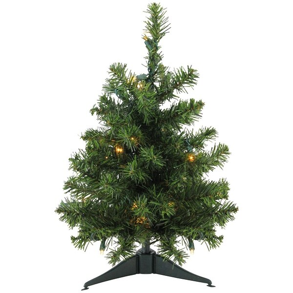 """18"""" Pre-Lit LED Natural Two-Tone Pine Artificial Christmas Tree - Clear Lights"""