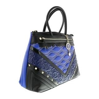 Versace EE1VOBBK6 EMAF Black/Blue  Satchel - 16-13-6