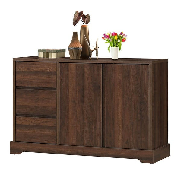Gymax Buffet Sideboard Cupboard Cabinet Console Table W/ 3 Drawers &. Opens flyout.