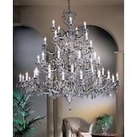 "Classic Lighting 57250-MS 66"" Crystal Chandelier from the Princeton II Collection"