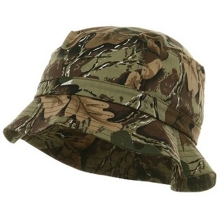 Youth Pigment Dyed Bucket Hat-Leaf Camo - leaf camouflage