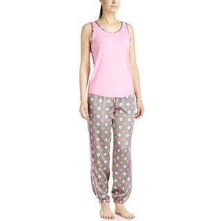 PJ Couture Women's Dot Tank Top/Long Pant Pajama Set