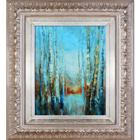 """ArtistBe Trees Stories No2 with Elegant Champagne Frame, 14"""" x 16"""""""
