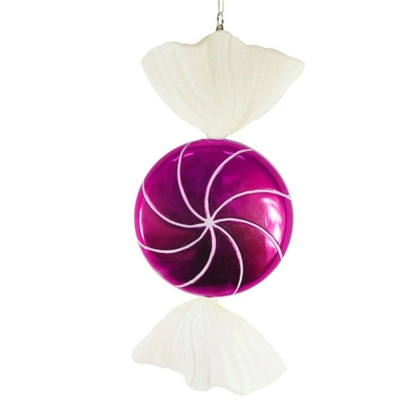 Large Candy Fantasy Wrapped Raspberry Candy Christmas Ornament Decoration 18""
