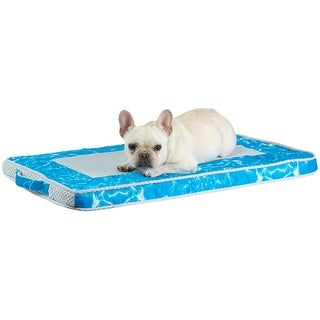 Self-Cooling Dog Mat, Cool Pet Bed for Dogs and Cats - Blue