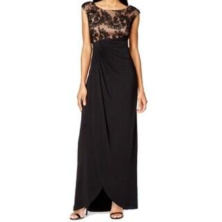 Connected Apparel NEW Black Women's 18W Plus Empire Waist Maxi Dress
