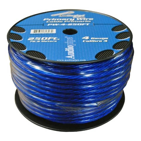 POWER WIRE AUDIOPIPE 4GA 250' BLUE