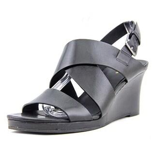 Cole Haan Penelope Wedge Open Toe Leather Wedge Heel