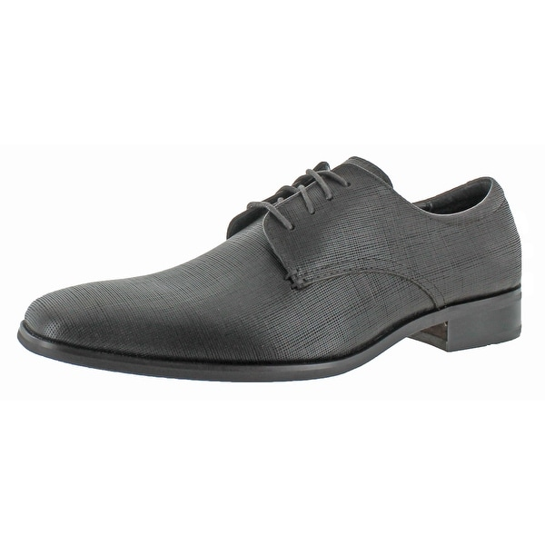 Calvin Klein Mens Gordan Textured Leather Oxford Shoe