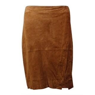 Lauren Ralph Lauren Women's Goat Suede Envelope Skirt - Moccasin