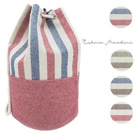 Eshma Mardini Striped Canvas Beach Bag - BackPack - Inside Lining