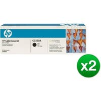HP 304A Black Original LaserJet Toner Cartridge (CC530A)(2-Pack)