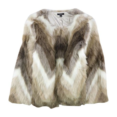 Alfani Womens Faux-Fur Coat