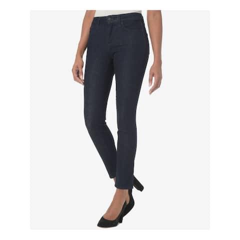 NYDJ Womens Navy Cotton Skinny Jeans Size 14