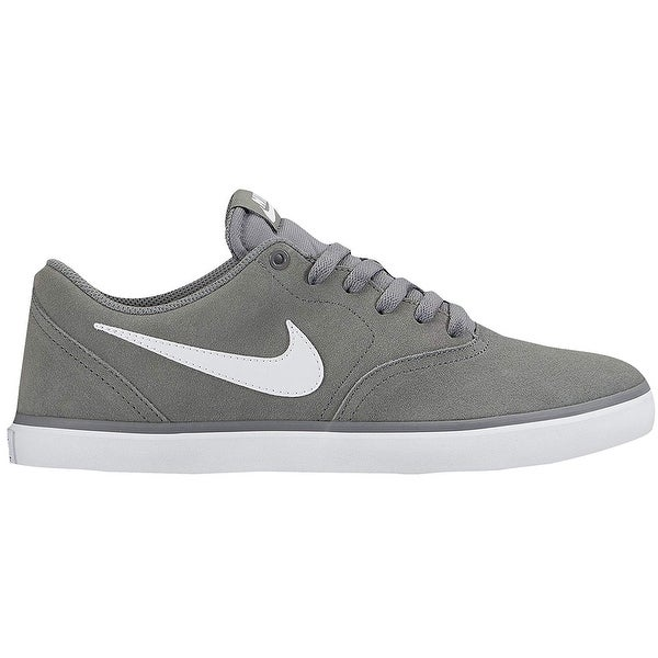 57c69f3c6ba9 Nike 843896-003  Sb Check Solar Canvas Mens Cool Grey White Sneakers (