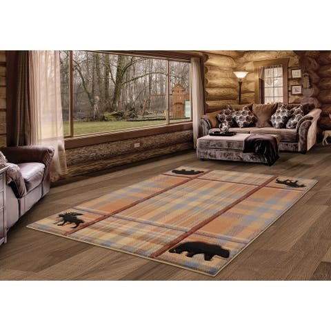 Westfield Home Graham Montana Multi Hand-Carved Area Rug