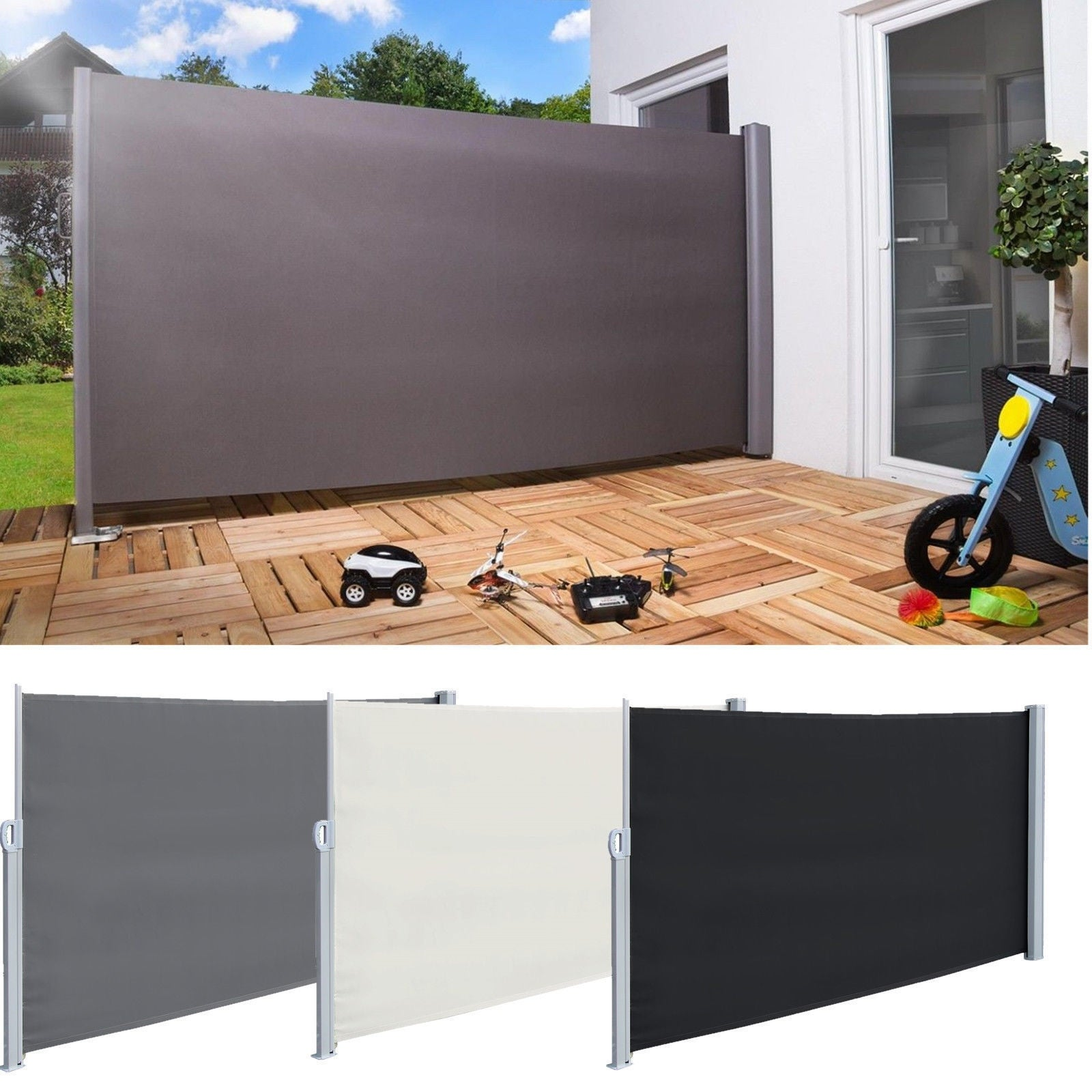 check out c2f9f bf223 Real 118'' x 71''Sunshade Retractable Side Awning Outdoor Patio Privacy  Divider Garden Screen Blind Roll-up Awning 3 Colors