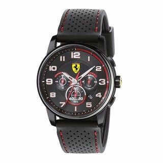 Ferrari Scuderia 0830063 Chronograph Mens Black Dial Heritage Black Red Chrono