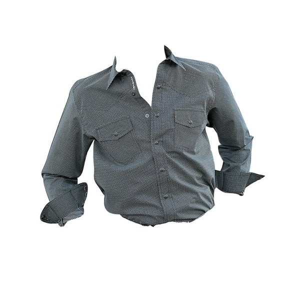 8dddfaab2 Shop Cinch Western Shirt Boys Long Sleeves Print Snap Front Teal - Free  Shipping On Orders Over $45 - Overstock - 18689394