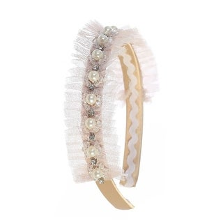 Kids Dream Champagne Tulle Pearl Headband - One Size
