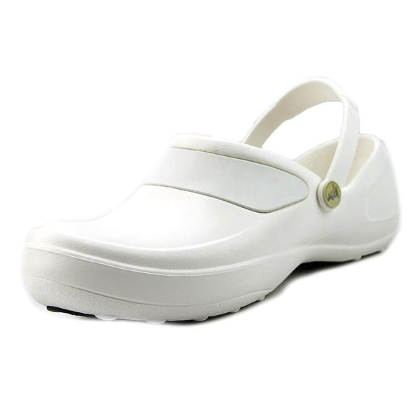 0f8351fce Shop Crocs Mercy Work Women Round Toe Synthetic Clogs - Free ...