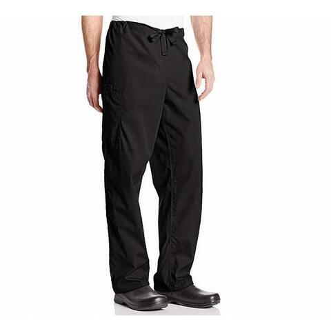 Cherokee Mens Scrubs Bottoms Black Size XL Drawstring-Waist Cargo Pants
