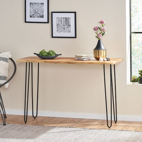Plumb Acacia Wood Console Table by Christopher Knight Home