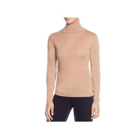 T Tahari Womens Turtleneck Sweater Wool Long Sleeve