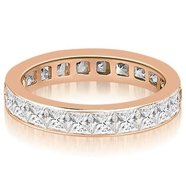 2.50 cttw. 14K Rose Gold Princess Channel Eternity Ring