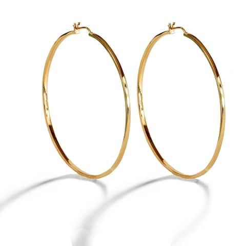 Eternity Large Hoop Earrings in 18K Gold Vermeil (Sterling Silver base), 18K Rose Gold Vermeil or Sterling Silver