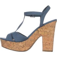 American Rag Womens Jamie1 Fabric Open Toe Casual Platform Sandals