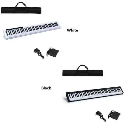 Gymax 88 Key Digital Piano Recital MIDI Keyboard w/Bluetooth White