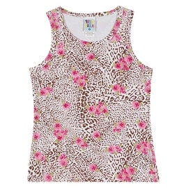 Girls Tank Top Cheetah Print Tee Kids Clothing Pulla Bulla Sizes 2-10 Years
