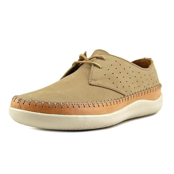 Clarks 1825 Veho Flow Men Moc Toe Leather Tan Oxford