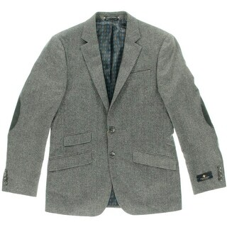 Argyle Culture Mens Wool Blend Notch Collar Blazer - M
