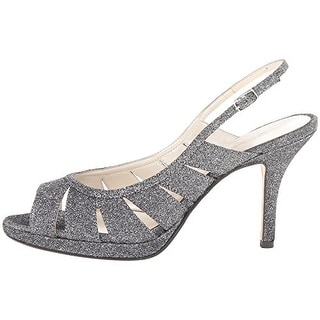 Caparros Womens Karena Glitter Dress Peep-Toe Heels