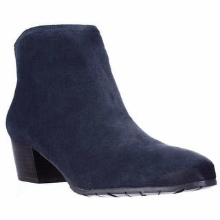 Kenneth Cole REACTION Pil Age Ankle Booties - Navy