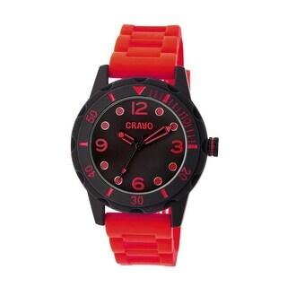 Crayo Splash Unisex Quartz Watch, Silicone Strap
